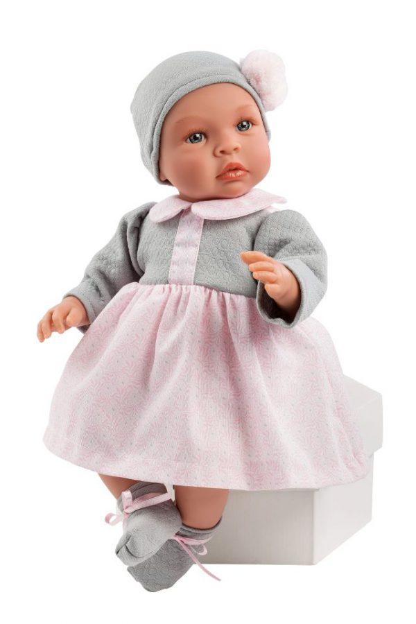 Asi Leonora med grå og rosa kjole