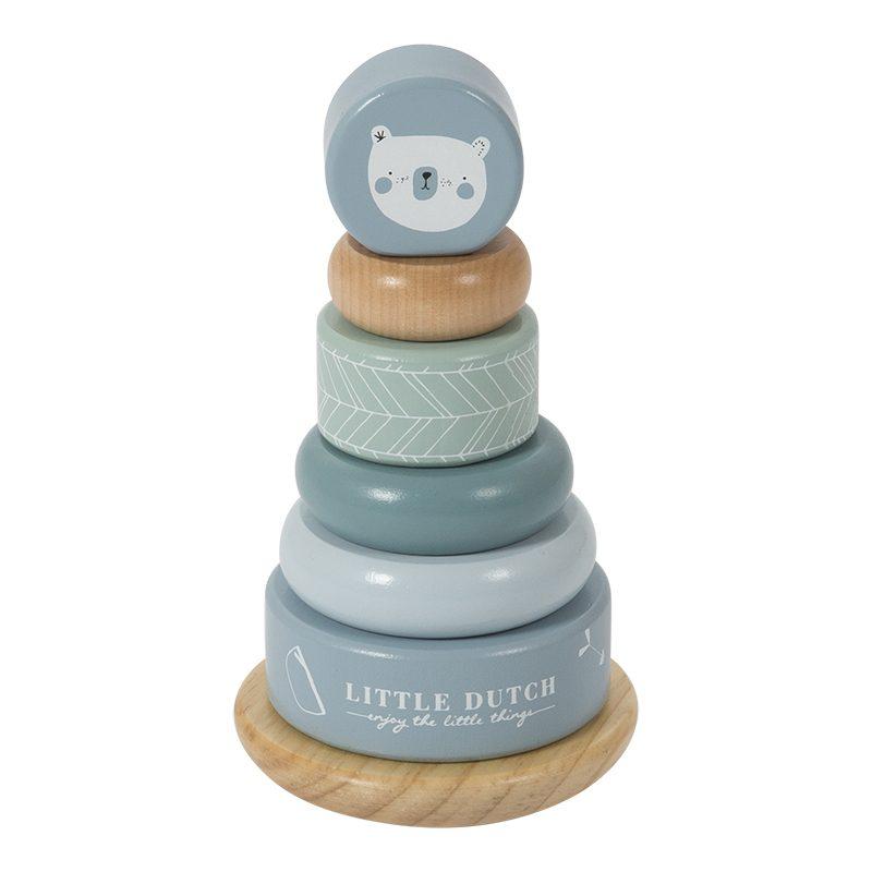 Stabletårn i tre blå Little Dutch