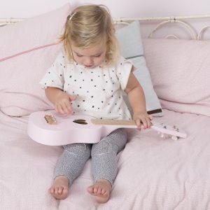 Gitar i tre i adventure pink fra Little Dutch