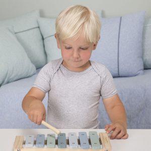 xylofon i tre i blått fra Little Dutchblå xylofon i tre Little Dutch