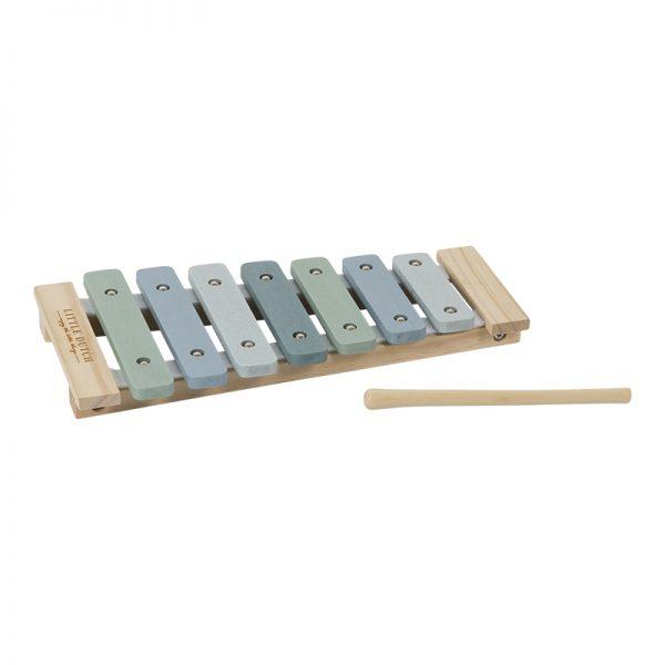 xylofon i tre i blått fra Little Dutch