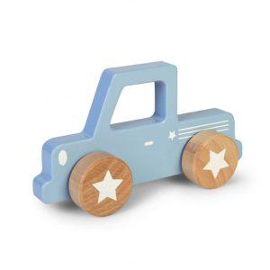 blå pickup truck bil i tre Little Dutch