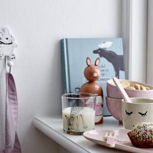 Hvite knagger med dyremotiv fra Bloomingville Mini