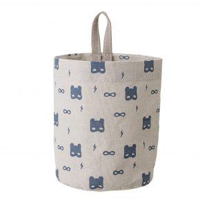 Oppbevaringspose med blått mønster fra Bloomingville Mini
