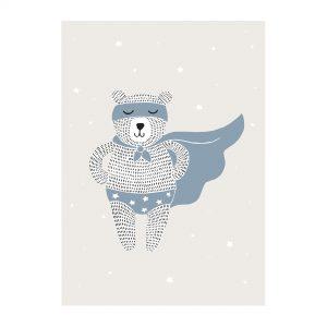 Plakat Superhelt Bjorn fra Bloomingville Mini