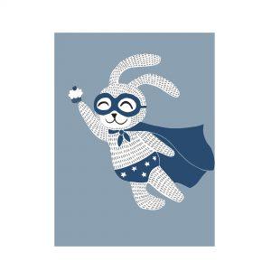 Plakat Superhelt Kanin fra Bloomingville Mini