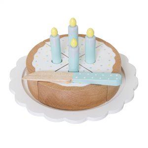 Lekekake med kakefat og kniv - lotus fra Bloomingville Mini