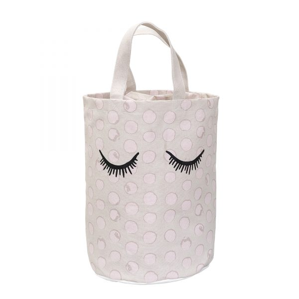Oppbevaringspose med rosa prikker fra Bloomingville Mini