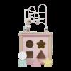 Rosa aktivitetskube fra Little Dutch