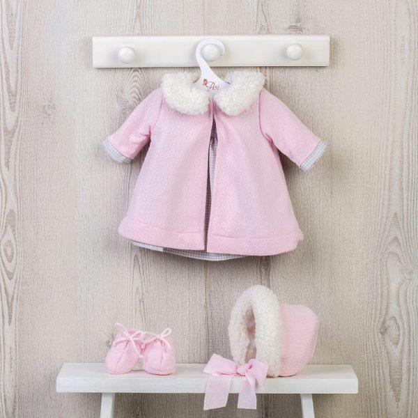 Asi Leonora Dukkeklær rosa vinterkåpe m/tilbehør