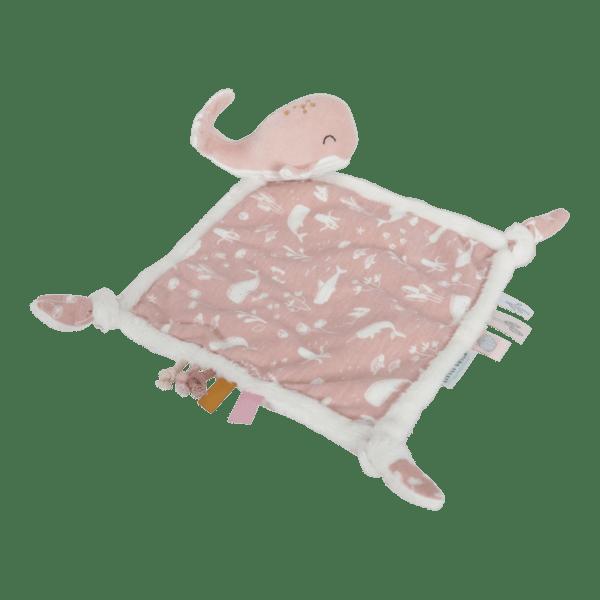 Little Dutch Koseklut Hval - Ocean Pink
