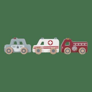 Little Dutch Utrykningsbiler i tre - 3 stykk