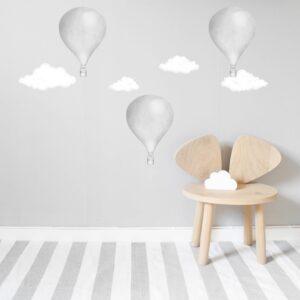 Stickstay Clouds White Wallsticker set