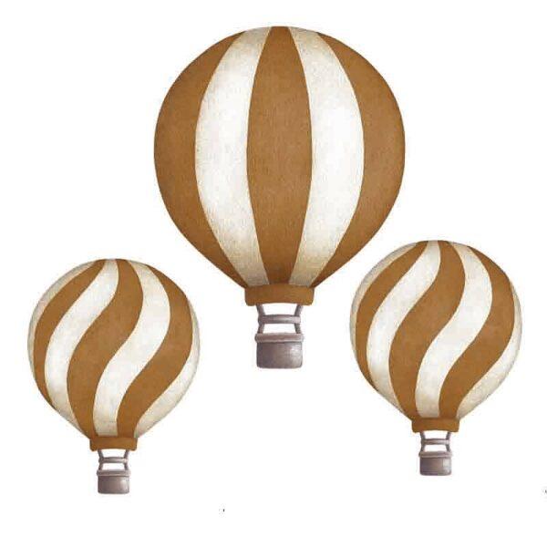 Stickstay dark mustard vintage balloons set wallstickers