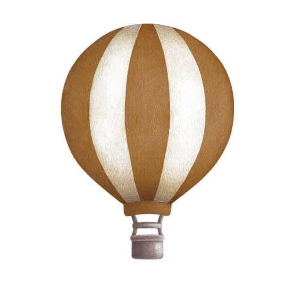 Stickstay dark mustard vintage balloons set wallstickers stripe balloon