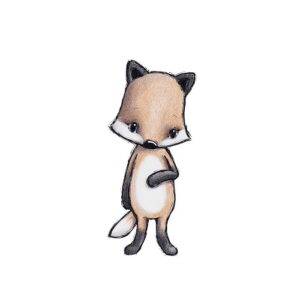 Stickstay Rocky the fox wallsticker